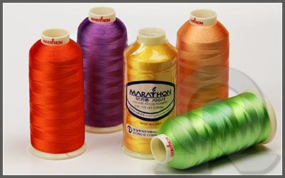 Нитки для машинной вышивки, вискоза, Marathon