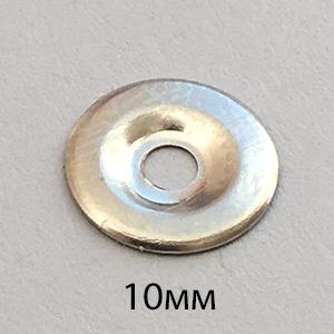 Подкладка под кнопку металлическая